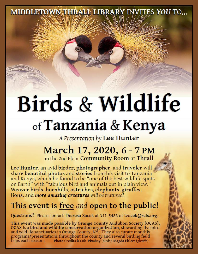 Birds and Wildlife of Tanzania and Kenya