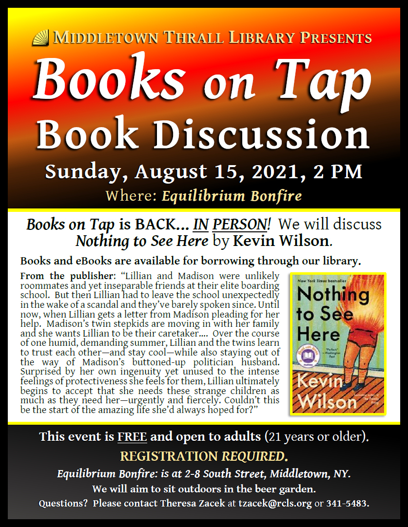 Books on Tap: August 2021