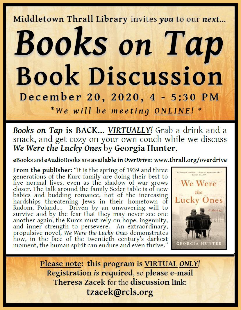 Books on Tap: Dec, 2020
