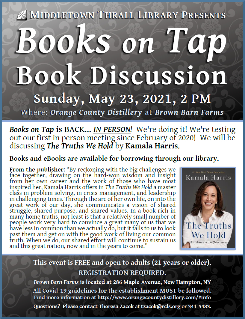 Books on Tap: May 2021