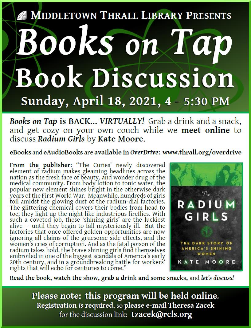 Books on Tap: April 2021