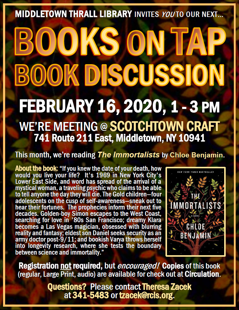 Books on Tap: February 2020