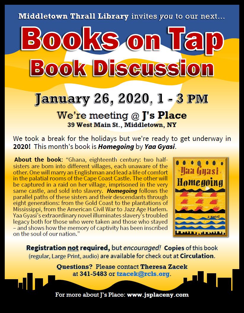 Books on Tap: Jan. 2020