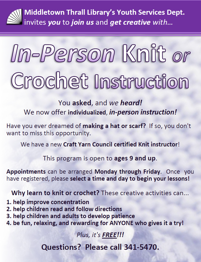 In-Person Knitting and Crochet