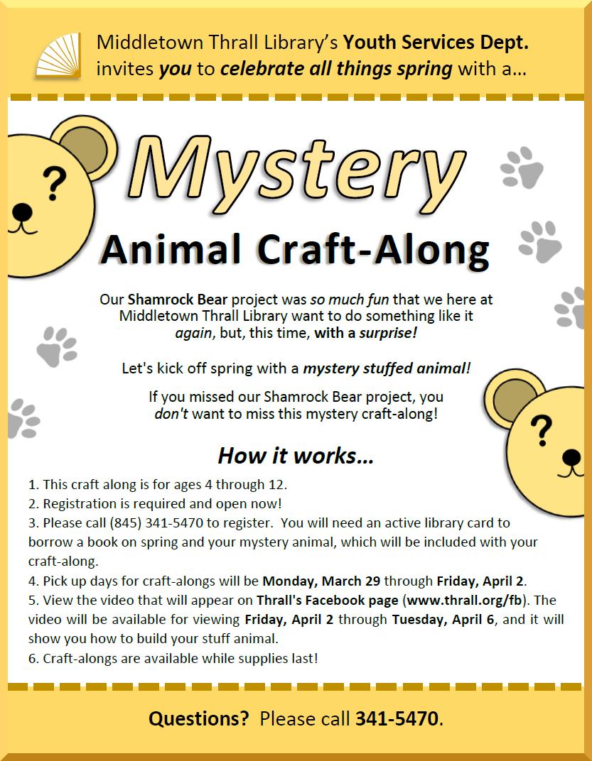 Mystery Animal Craft-Along