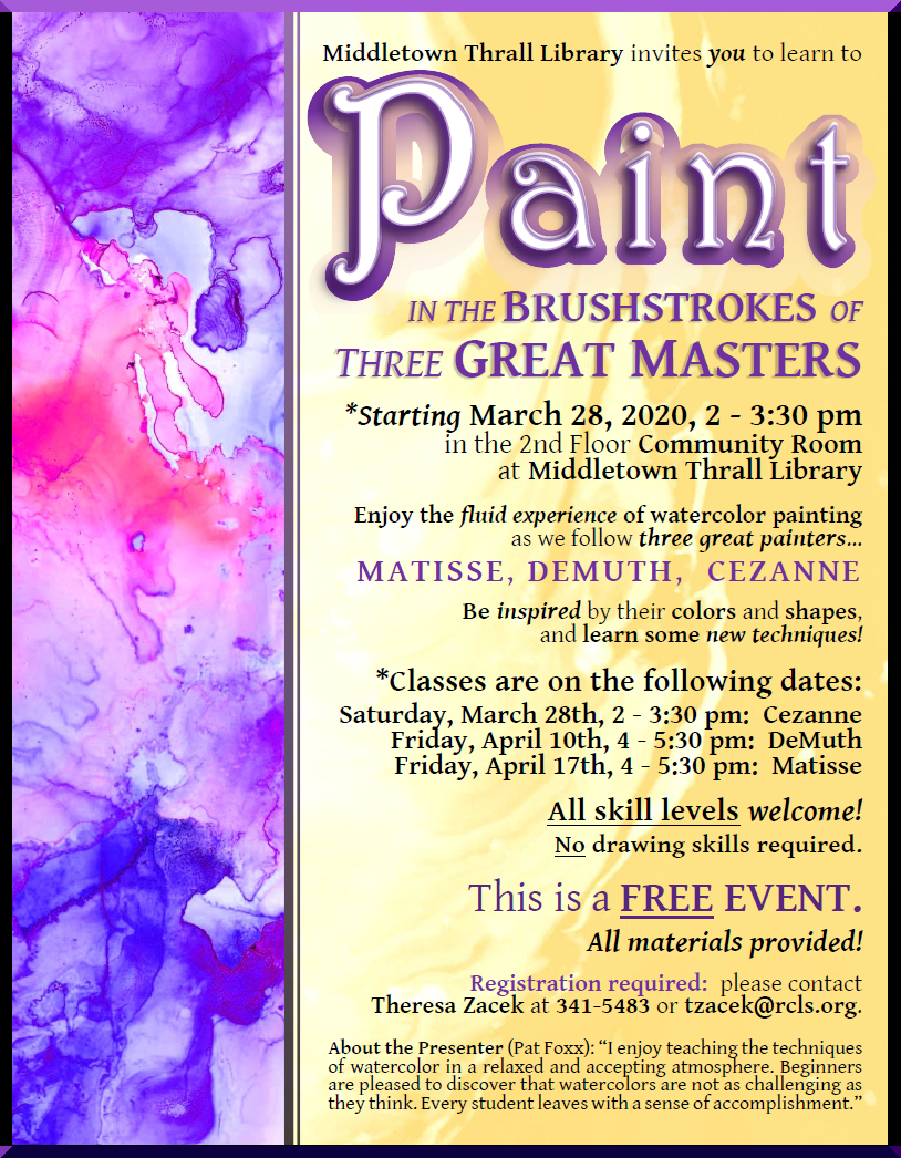 Paint in the Brushstrokes of Three Great Masters