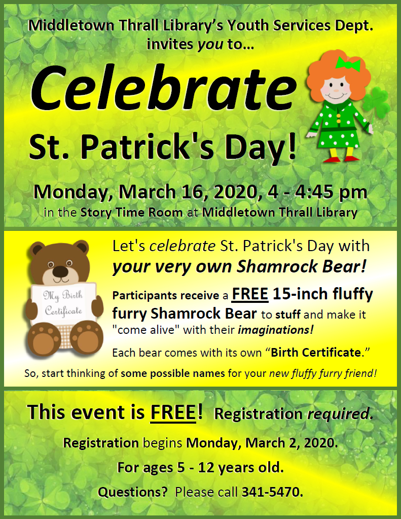 Celebrate Saint Patrick's Day