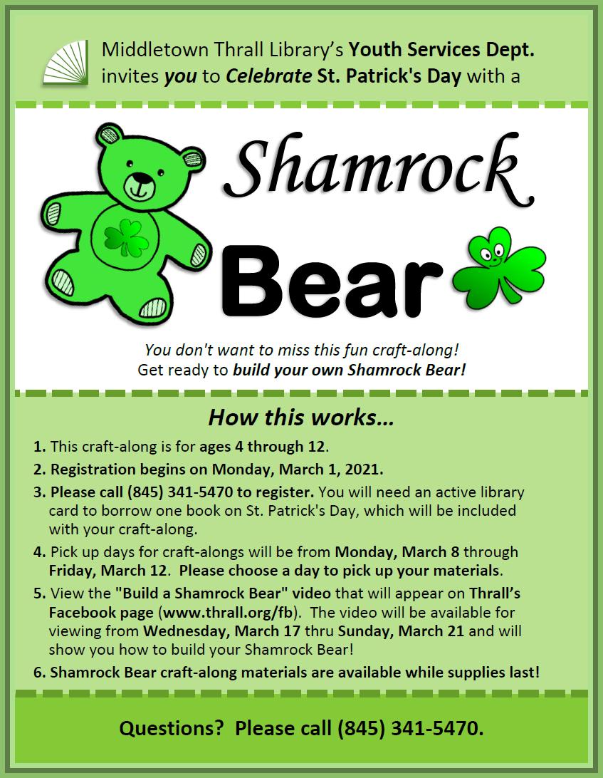 Shamrock Bear - March 2021