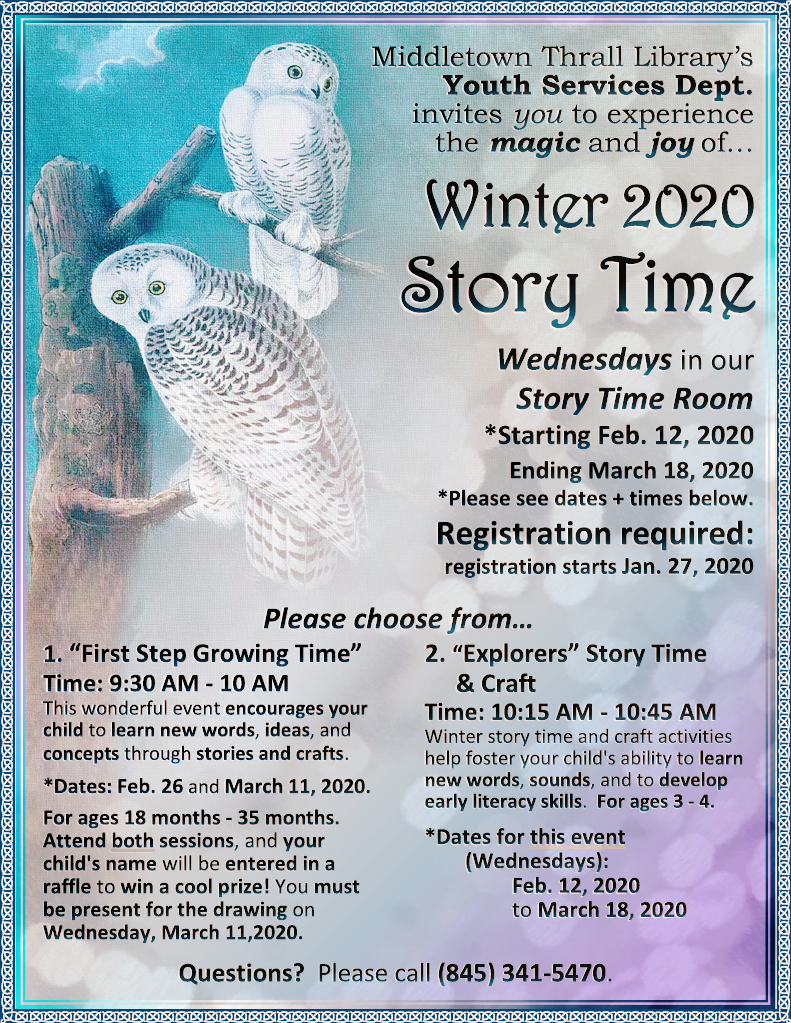 Winter Story Time 2020