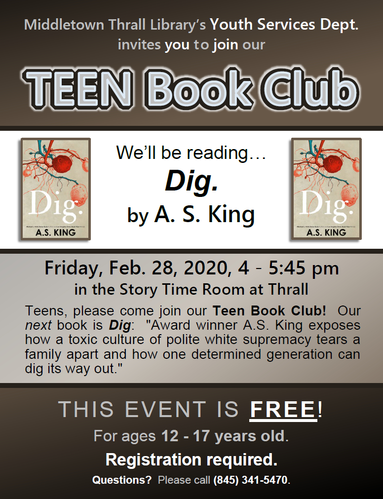 Teen Book Club: Feb. 2020