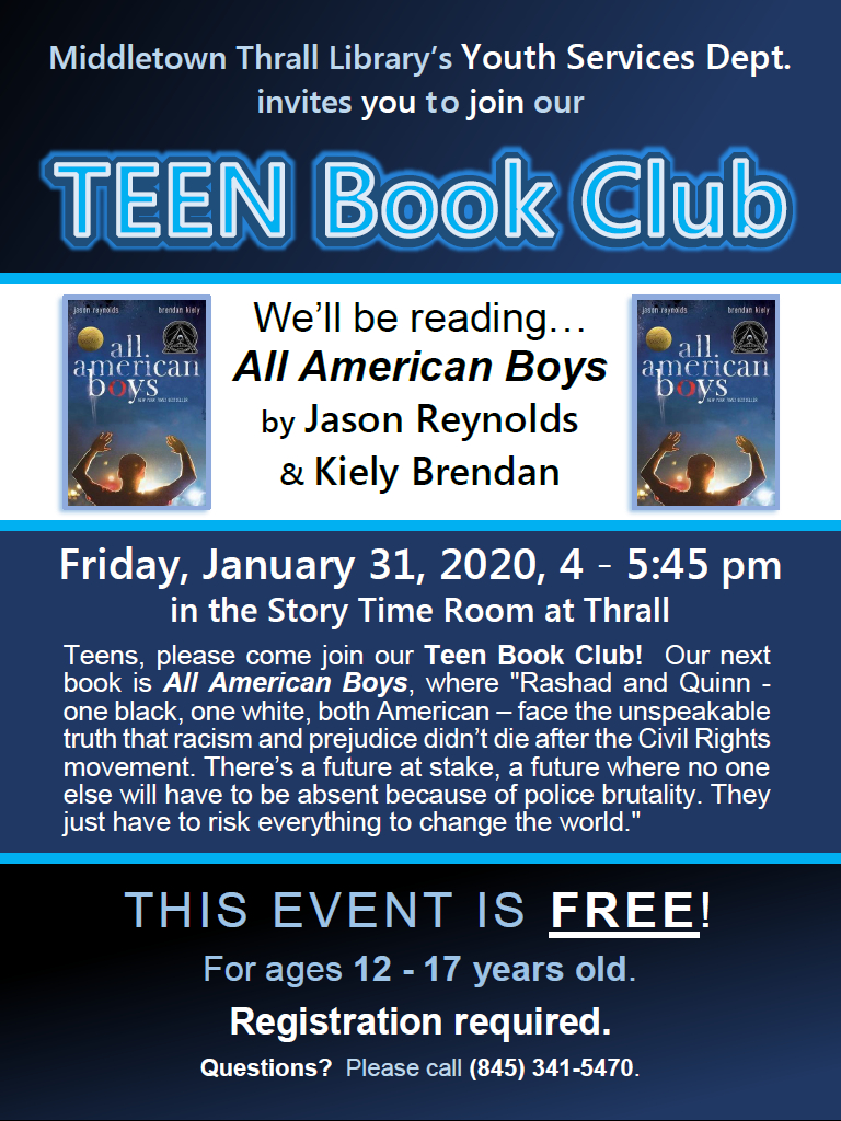 Teen Book Club: Jan. 2020