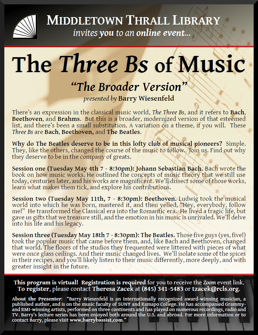 The Three Bs of Music