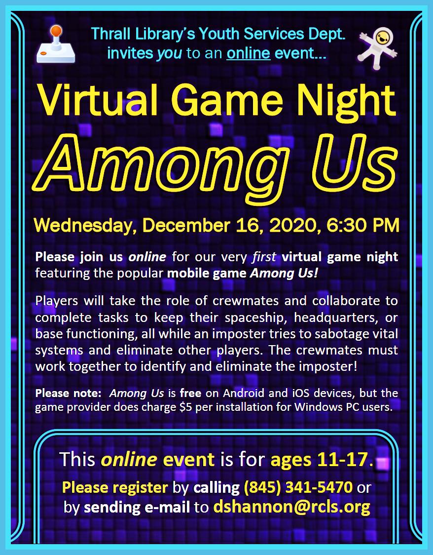 Video Game Night - Among Us - Dec. 2020