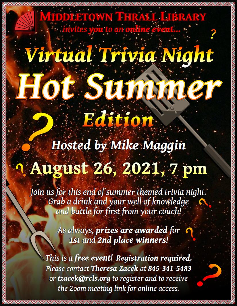 Virtual Trivia Night: August 2021