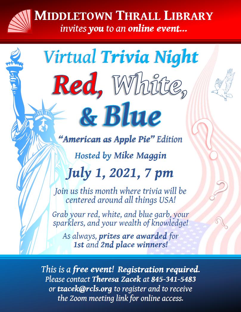 Virtual Trivia Night: May 2021