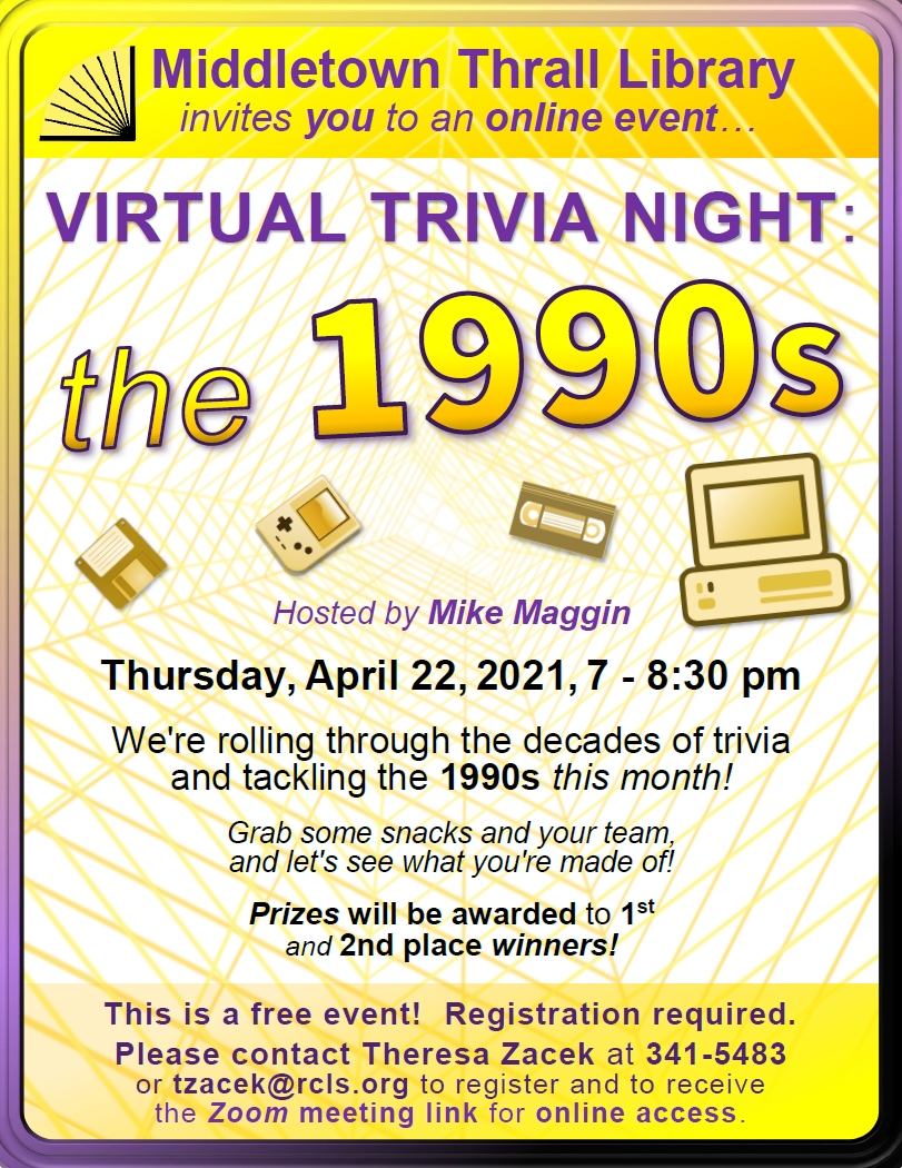 Virtual Trivia Night: March 2021