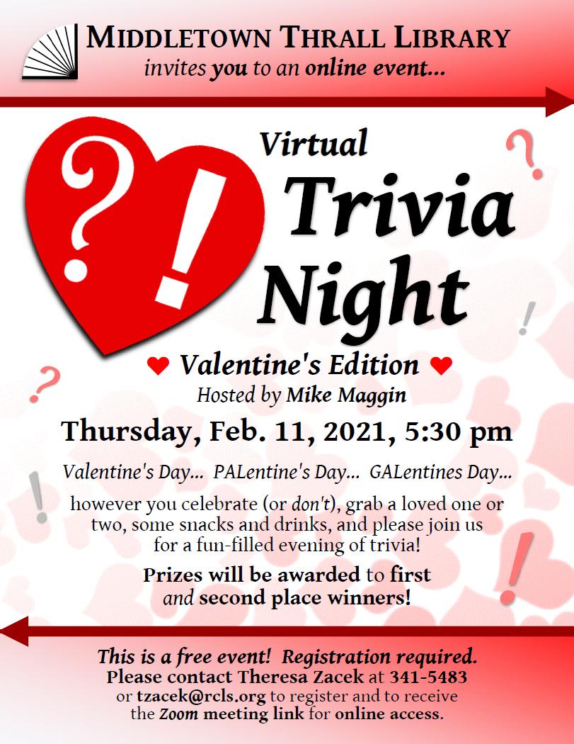 Virtual Trivia Night: Feb. 2021