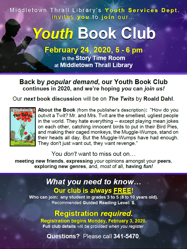 Youth Book Club: Feb. 2020