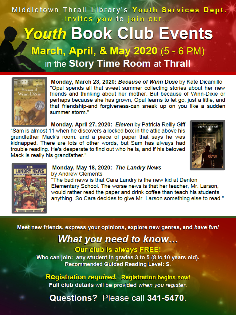 Youth Book Club: March, April, May 2020